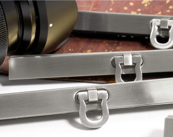 """4pk 4.5"""" Brushed Nickel Open Clasp Frame for DIVA MINI or similar patterns (19cm). Luxcrafter - Canadian Supplier."""