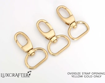 """25pk 1/2"""" Yellow Gold J-hook with Wide 3/4"""" strap loop. **LIMITED SUPPLY**. Luxcrafter, a Canadian Supplier."""