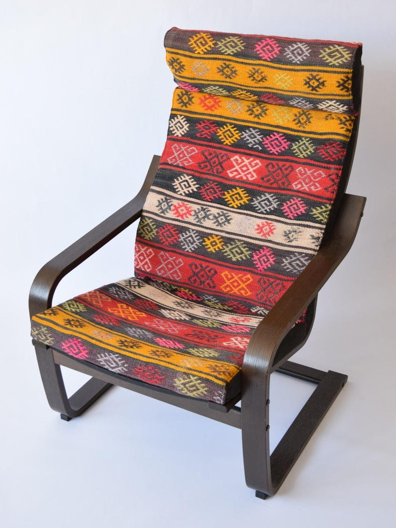 Magnificent Poang Chair Cushion Kilim Rug Cover 034 Download Free Architecture Designs Rallybritishbridgeorg