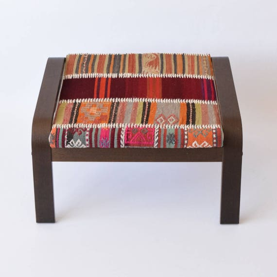 Housse Ikea Poang Pouf Ottoman Patchwork Kilim Tapis 001