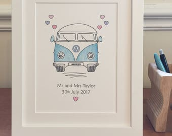 Personalised wedding gift- unframed