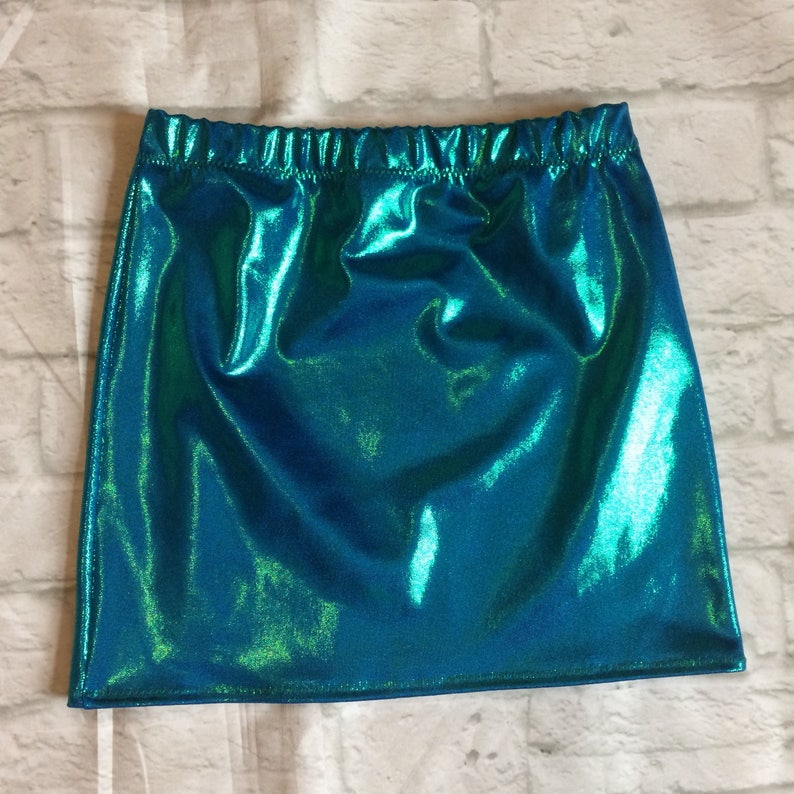 Gorgeous mermaid bluegreen iridescent skirt