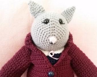 Hand Made Crochet Cat Toy
