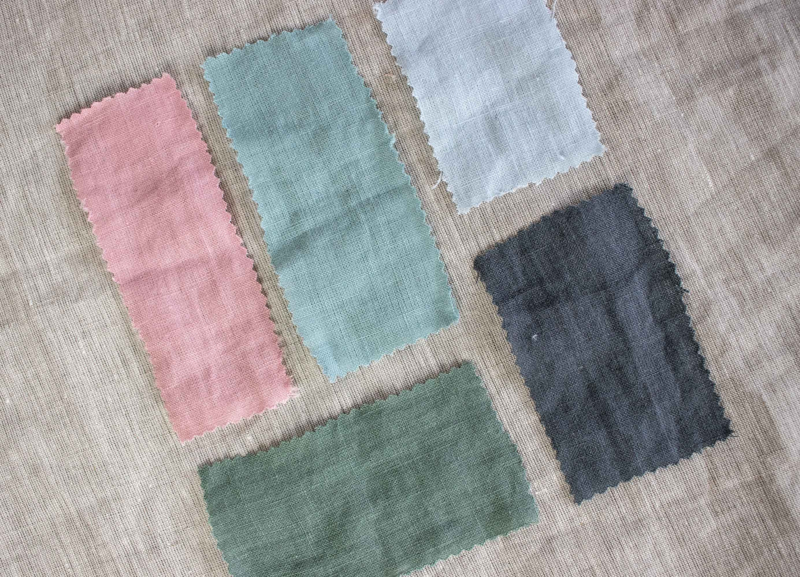 Colors+ Stonewashed linen duvet cover set with pillowcases - Sage, moss green Sea linen Light sky blue Charcoal grey duvet cover