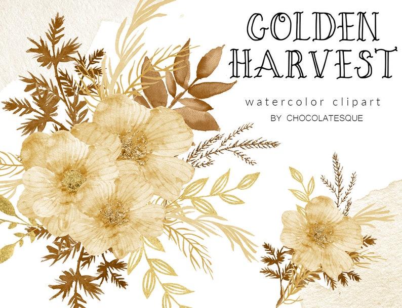 png bouquet clipart sepia flowers floral clipart individual elements sepia clipart Golden Harvest floral clipart watercolor clipart
