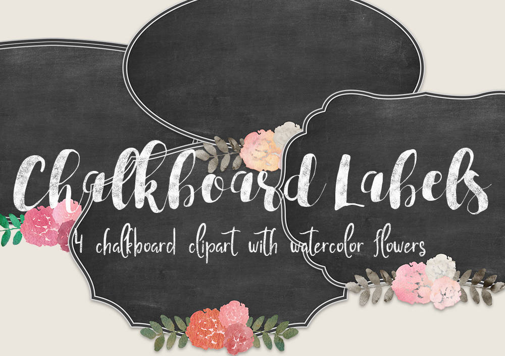 Tafel Etiketten Label Clipart Tafel Rahmen Tafel Clipart | Etsy