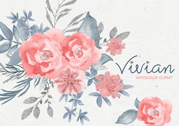 Pink flowers clipart floral clipart watercolor clipart pink pink flowers clipart floral clipart watercolor clipart pink dusty blue png clipart floral elements watercolor elements wedding pink from mightylinksfo