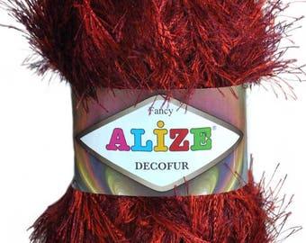 Alize Decofur. 100% Polyester. 100 g/110 m. fancy yarn