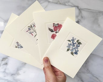 Assorted Wildflower Note Cards | Pack of 8 Blank Notecards