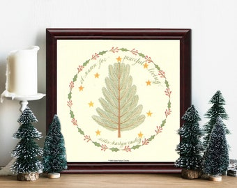 A Season for Peaceful Living   Framed 6 x 6 in. print