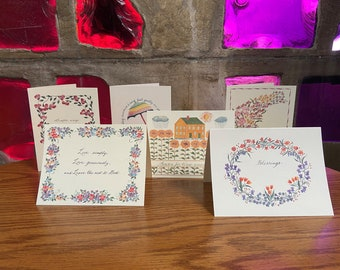 Summer Harvest | Pack of 6 Note Cards. Blank inside.