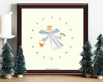 Angel   Framed 6 x 6 in. Print