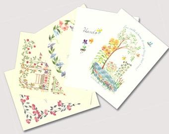 Simple Shaker Sayings | Pack of Five Notecards