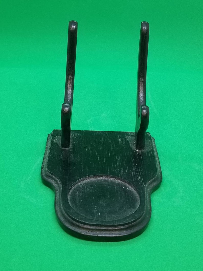 Black Wooden Cup And Saucer Display Stand Or Display Holder
