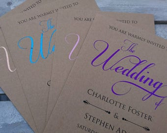 Foil Kraft Wedding Invitations