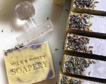 LAVENDER  (shea butter soap, lavendar soap, lavender soap, lemongrass)