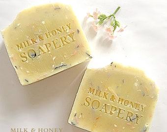 HARMONY (confetti soap) (Himalayan salt soap, activated charcoal, geranium soap, Ylang Ylang, handcrafted soap)