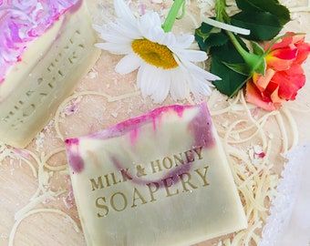 BLUSH floral soap (Floral water soap, handmade soap, summer, rose water)
