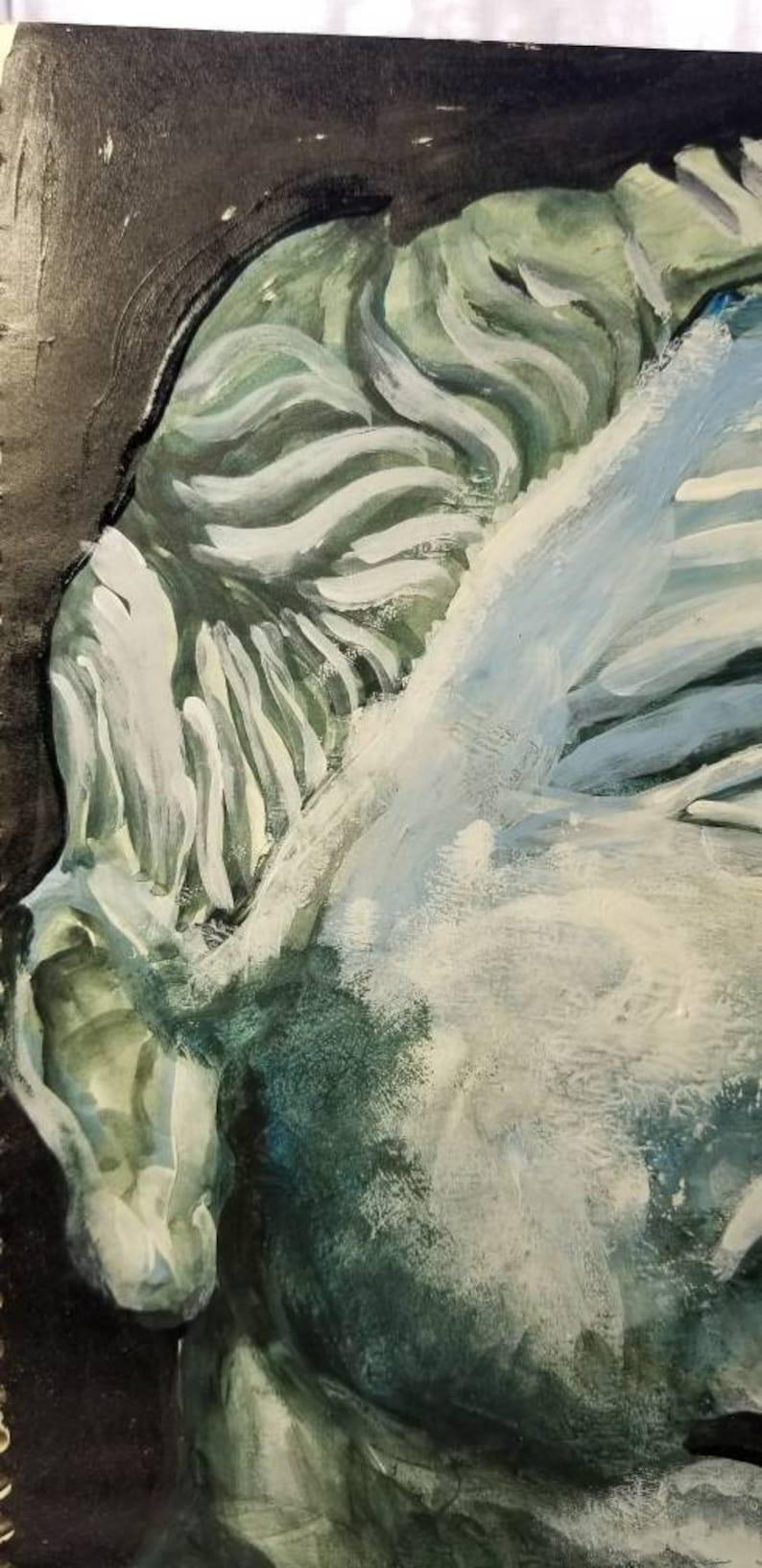 extraordinary discovery ORIGINAL ARTWORK WATERCOLOR painting roman rome italy italian