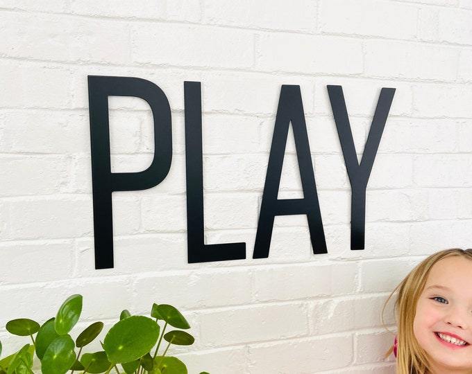 PLAY Metal Letters
