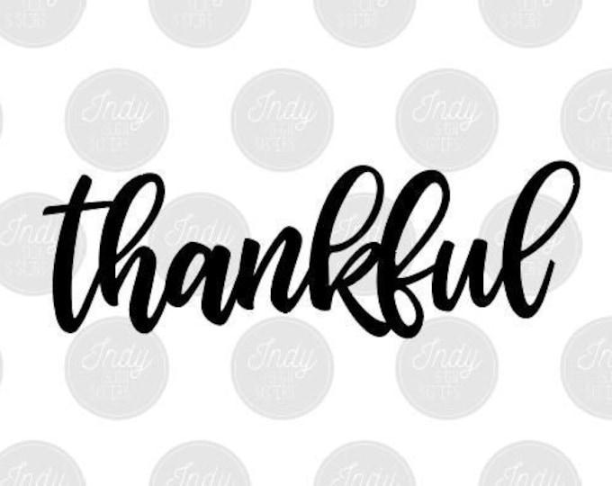 Thankful Cut File SVG DXF AI
