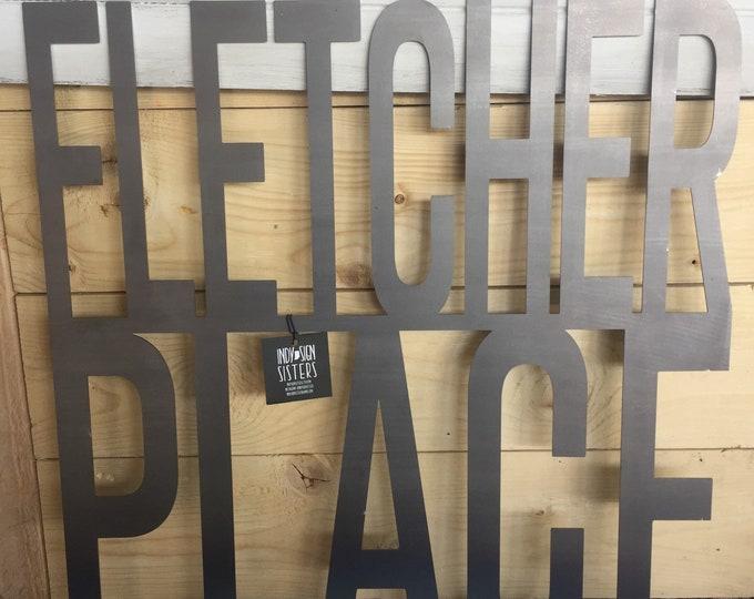 Fletcher Place Sign | Custom Neighborhood Sign | Indianapolis Neighborhood Sign | Indy Sign