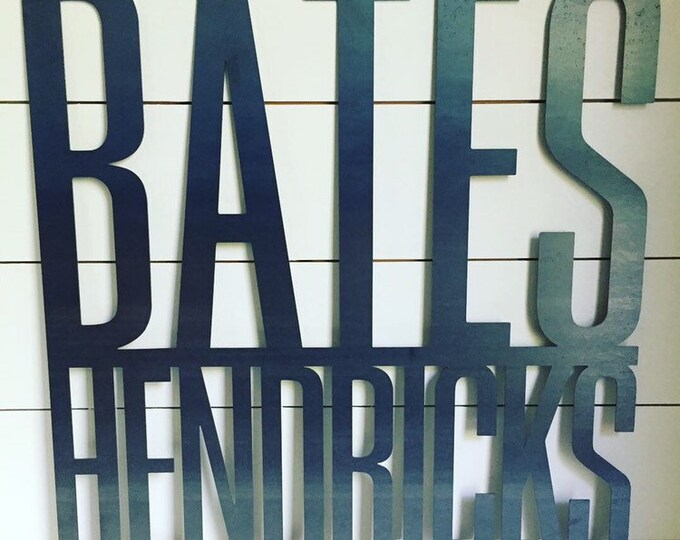 Bates Hendricks Sign | Custom Neighborhood Sign
