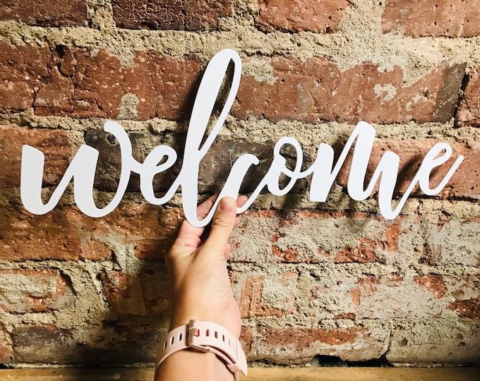 Mini Welcome Sign