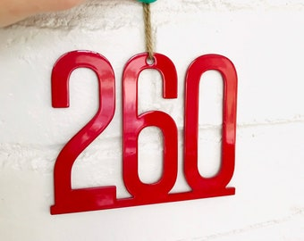 260 Area Code Ornament | Fort Wayne Ornament