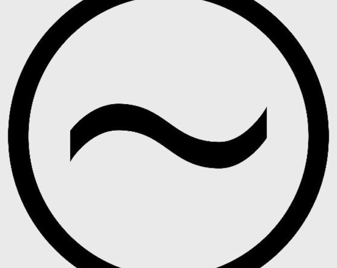 """Custom Order for Dakota, 8"""" Diameter Logo, Raw Steel Finish"""