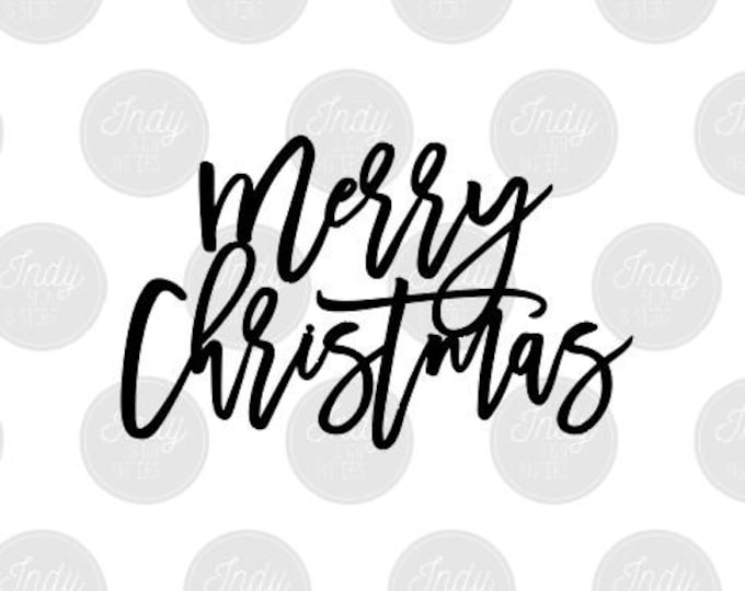 Merry Christmas Cut File SVG DXF Ai