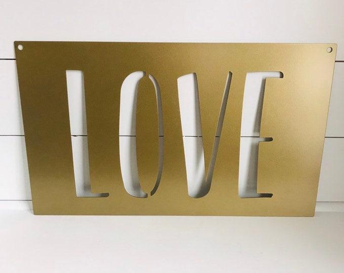 LOVE Metal Cutout Sign