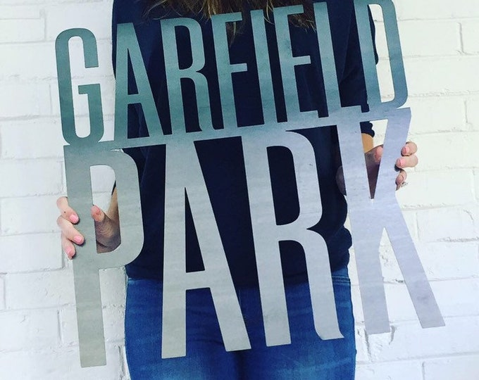 """Garfield Park Sign 20""""x20"""" Sign with Black Powder Coat Finish for Catrina"""