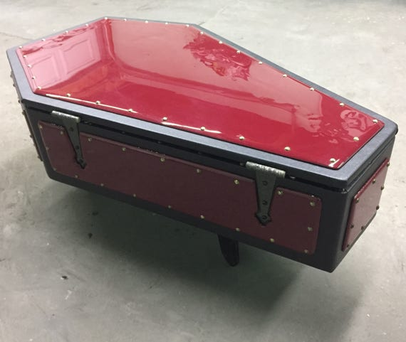 Custom Made Coffin Coffee Table Etsy - Coffin coffee table