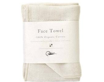 Nawrap Organic Cotton Face Towel, Ivory