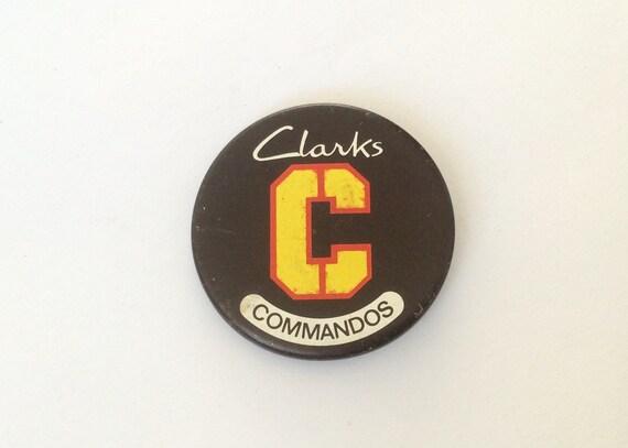CLARKS COMMANDOS BLACK PICTURE BADGE