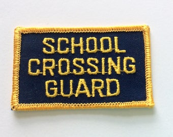 Vintage School Crossing Guard Patch