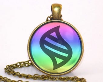 MIP-Pokemon mega stone Altarianite Pendant with a matching 20 inch hoop chain