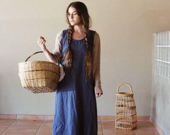 Vintage 90s Denim Sleevless Dress