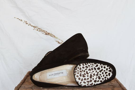 add7f2e3b884e Suede - Hair On Liz Claiborne Loafers | Unique Minimalistic City Girl  Loafers with Animal Print