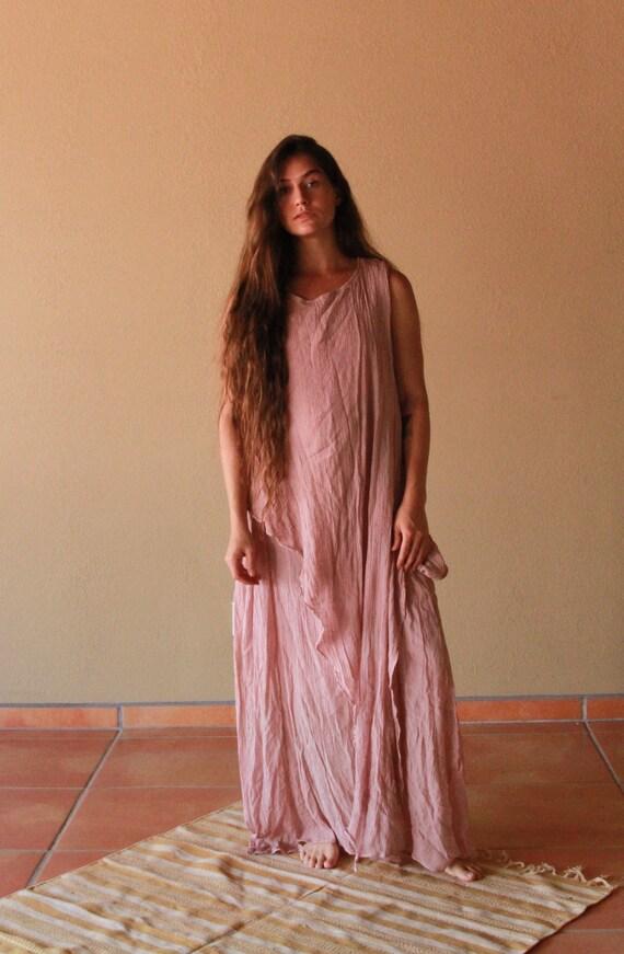Natural dye gauze dress