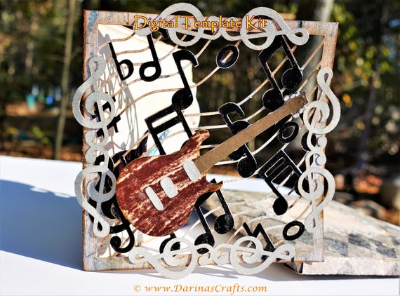 Card For Musicians SVG Bundle Musical Guitar