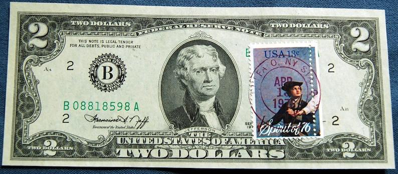 1976 Series 2 Dollar Bill FRB New York With Drummer Boy Spirit