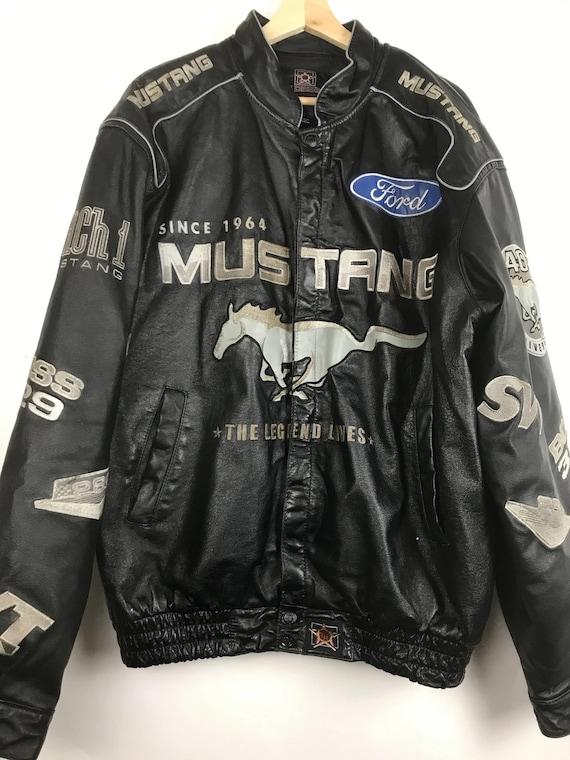 Vintage NASCAR Ford Leather Jacket