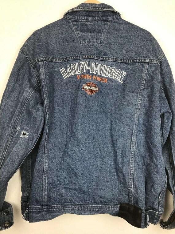 Vintage Harley Davidson Jean Jacket