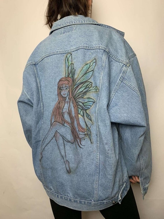 Hand Painted Fairy Jean Jacket