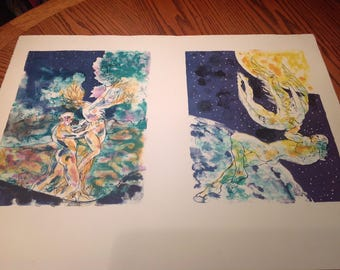 Chagall style lithos two