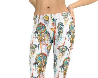 b2ef157d032df Leggings Painted Dreamcatcher Capris Woman's Printed Leggings Yoga Workout  Exercise Pants Crazy Unique Leggings Dream Catcher Pants