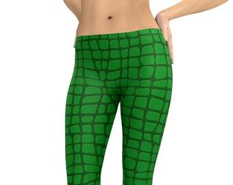 64febc2dc42cc4 Crocodile Leggings or Capris Reptile Gator Lizard Woman's Leggings Printed  Leggings Yoga Workout Exercise Animal Leggings Stretch Pants