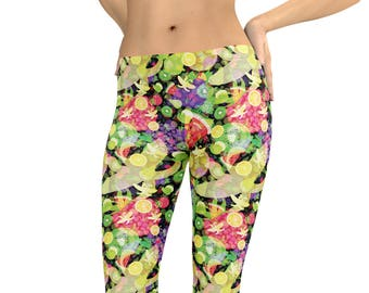 dbac93667dddb1 Fruit Leggings or Capris Woman's Printed Leggings Yoga Workout Exercise  Pants banana watermelon grapes strawberries kiwi Leggings Pants